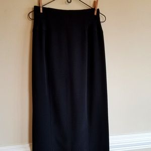 Long Black Skirt by St. Gillian Sportswear Size Sm